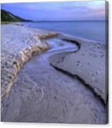Flowing To Lake Michigan Canvas Print