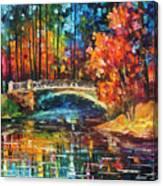 Flowing Under The Bridge  Canvas Print