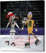 Floyd And Zoe's Skate Date Canvas Print