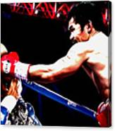 Floyd Mayweather And Manny Pacquiao Going At It Canvas Print
