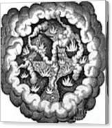 Fludds Primordial Fires, 1617 Canvas Print