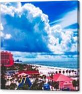 Fluffy Clouds Over Clearwater Beach Canvas Print