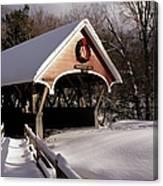 Flume Covered Bridge - Lincoln New Hampshire Usa Canvas Print
