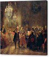 Flute Concert With Frederick The Great In Sanssouci Canvas Print