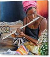 Flute Player Canvas Print