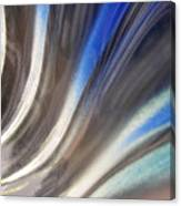 Fluted Blue Canvas Print