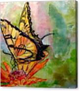 Flutterby - Watercolor Canvas Print