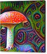 Fly Agaric Magic Mushroom Deep Dream Canvas Print