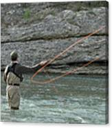 Fly Fisherman Canvas Print