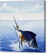 Fly Fishing For Sailfish Canvas Print