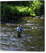 Fly Fishing In New York Canvas Print
