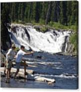Fly Fishing The Lewis River Canvas Print