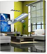Fly The Friendly Skies Art Canvas Print