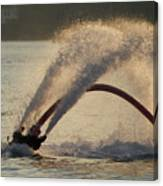Flyboarder Only Showing Feet After Semi-circular Dive Canvas Print