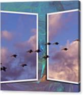 Flying Across Canvas Print