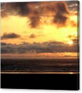 Flying Dog Sunset Canvas Print