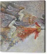 Flying Fairies. Monotype Canvas Print