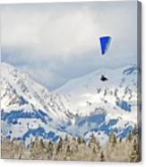 Flying High In Kandersteg, Switzerland Canvas Print
