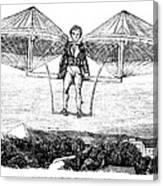 Flying Machine, 1807 Canvas Print