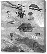 Flying Machines, 1864 Canvas Print