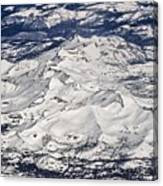 Flying Over Colorado Rocky Mountains Canvas Print