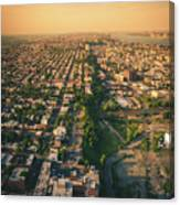 Flying Over Jersey City Canvas Print