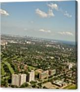 Flying Over Toronto Canvas Print