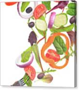 Flying Salad Canvas Print