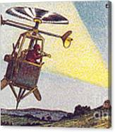 Flying Sentinel, 1900s French Postcard Canvas Print