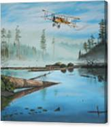 Flying The Mail Canvas Print