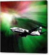 Flying Through Aurora  Canvas Print