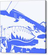 Flying Tiger Blue Canvas Print