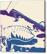 Flying Tiger Blue Purple  Canvas Print