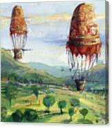 Flyingballons Canvas Print