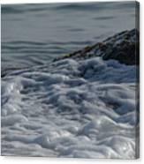 Foam On The Rocks Canvas Print