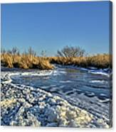 Foam On The Water Canvas Print