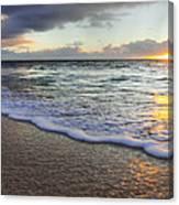 Foam Sunset Canvas Print