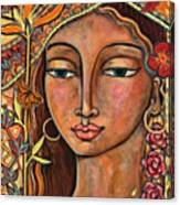 Focusing On Beauty Canvas Print