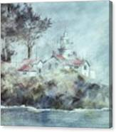 Fog At Batterypoint Lighthouse Canvas Print