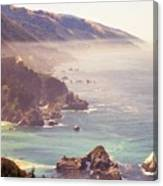 Fog Big Sur Canvas Print