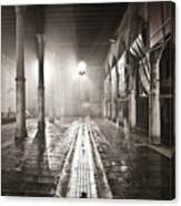 Fog In The Market Canvas Print