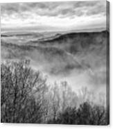 Fog In The Mountains - Pipestem State Park Canvas Print