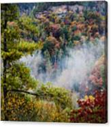 Fog In The Valley Canvas Print