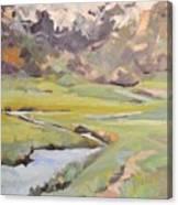 Fog Laiden Moraine Park Canvas Print