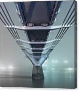 Fog - Millennium Bridge Canvas Print