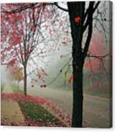 Fog On A November Morning Canvas Print