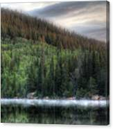 Fog On Bear Lake Canvas Print