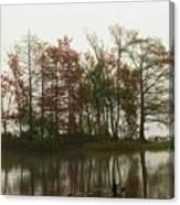 Fog On The River Canvas Print