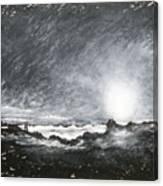Fog Over Blaine Hill Early Morning Canvas Print