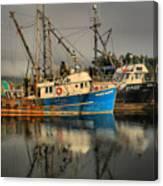 Fog Over Ucluelet Fishing Port Canvas Print